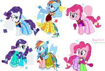1 / immagine Elsa E anna pony