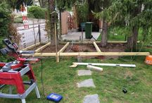 Deck with sandpit