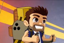 Barry Steakfries / Reference material for costume  - Barry from Jetpack Joyride / by Sara Cook