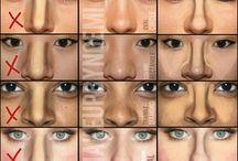 Técnicas y correcciónes de maquillaje.