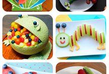 Comida con fruta