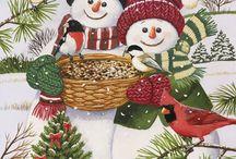 laminas navidad nieves