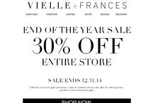 Home Decor Sale Promotions / Get the latest sales events, discounts and more! www.vielleandfrances.com