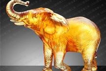 LIULI   Animal Figurines / Glass Art Animal Figurines by Liuli Crystal Art