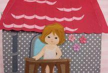 Casa de muñeca de tela