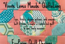 Vinnie Loves Maude Quiltalong / Join the Vinnie Loves Maude (pattern by EvaPaige Quilt Designs) QAL!