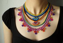 Beaded Crochet Necklace by irregularexpressions