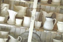 Ironstone and White Pottery Love