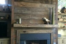 indoor wood panel rustic