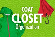 "Coat Closet Organization / Take the ""war"" out of ""wardrobe,"" with Alejandra Costello's organization ideas, tips, videos, and best products for coat closets and wardrobes. A front closet cloaked in clutter creates a sense of confusion, but Alejandra's organizing ideas can help you put on peace!  / by Alejandra Costello 