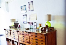 Drawers and cabinets and open shelves ! / by Trudy