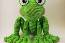 crochet szydełko Żaby frog