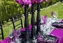 Purple Table Styling