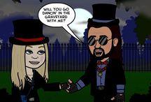 New Orleans Voodoo Couple Cartoon / Adorable Cartoon of your fave voodoo couple~! / by New Orleans VoodooCouple