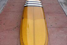 Retro surfboard colours