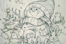 dibujos navidsd