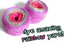 Deying yarn