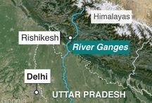 Géo  5ième Gange / collecte pour un EPI géo/svt/math  , thème : le Gange croissnce démographique et DD