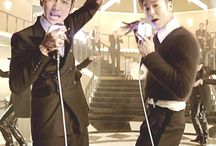 """TVXQ / TVXQ (stylized as TVXQ!), an initialism for Tong Vfang Xien Qi[3] (Chinese: 東方神起), is a South Korean pop duo consisting of U-Know Yunho and Max Changmin. They are known as Tohoshinki (東方神起 Tōhōshinki?) in Japanese releases, and are sometimes referred to as DBSK, an abbreviation of their Korean name Dong Bang Shin Ki (Hangul: 동방신기). Their name roughly translates to """"Rising Gods of the East""""."""
