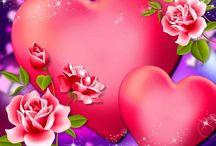 szerelem Valentin nap színes / love Vintage transfer transzfer colorful