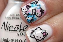 Unhas Decoradas - Hello Kitty