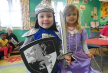 St George's Day 2014 / Here at Kiddi Caru we have been very lucky to have lots of knights and princesses at our nurseries this week!   Little ones celebrated St George's Day by hearing all about the exciting stories of St George; particularly enjoying the part about his encounter with the dragon! Followed by lots of shield and flag related art and craft.