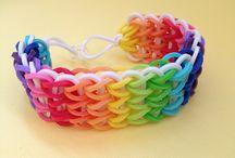 Rubber Band Bracelets / by Melissa Bell
