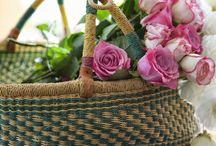 amo cestaria /  decorando com cestas