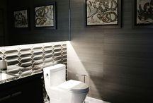 Łazienka / Ciekawe pomysły na urządzenie łazienki z wykorzystaniem naszych oklein ściennych (tapet) winylowych, naturalnych oraz ręcznie robionych.