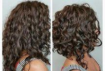frisure med krøller