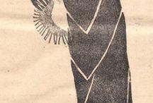 "Fashion 1928, 1929, 1930 / Illustrations from ""Wielkopolska Jlustracja"" - Polish weekly, featuring ""Felietony Pani Hanki"" about fashion;  all picked by adante for zbroiowisko"