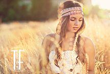 a girl in a cornfield