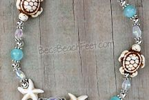 Anklets & Stackers / Bec's Beach Feet Stacker Ankle Bracelets are the best way to dress up your ankles!  Add them to your favorite pair of Bec's Beach Feet or wear them alone.