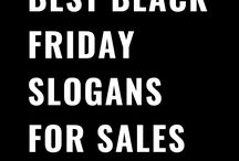 Black Friday Slogans for Sales and Advertising