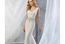 Slinky Bridal Dresses / Super slinky body hugging bridal dresses