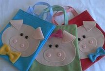 Decoração 3 porquinhos