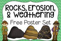 | earth science | / | landforms | weathering | rocks | water