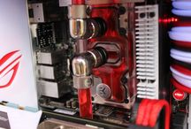 Pc water cooling details. / Cool water cooling details.