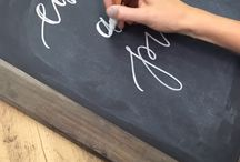 Chalk Board Ideas / A collection of ideas for chalkboards.