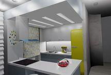 3D σχέδια - φωτορεαλισμός / Ανακαίνιση σαλονιού και κουζίνας διαμερίσματος ενός εργένη. Μικρό budget με μεγάλες ωστόσο δυνατότητες.  Σχεδιασμός κατόψεων εκ νέου από τα σχέδια μηχανικού και φωτορεαλιστική αποτύπωση τελικής λύσης   Σχεδιασμός-Μελέτη Ανακαίνισης-Φωτορεαλιστικά σχέδια : BB Interior Design  #render #interiordesign #design #deco #renovation #interiordesigner #living-room #kitchen