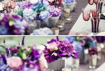 Голубая и фиолетовая. purple and blue wedding