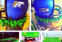 Sports Themed Cakes / Custom and Specialty Cakes football or sports related. If you or someone you know is planning a Football party, use our board filled with many of our custom cakes created for Football parties. Perfect cakes for a superbowl party. Use our board for ideas to help you plan your perfect Football or Superbowl celebration, as well as Football cake ideas or Super Bowl Cake Ideas