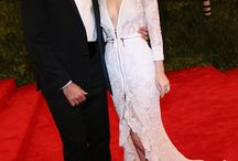On the red carpet at the 2013 Met gala