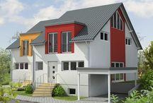 WeberHaus im Doppelpack / Wer sich für dieses schicke Doppelhaus entscheidet, profitiert von vielen Vorteilen. Clever findet das auch der Geldbeutel – vor allem dann, wenn zwei Doppelhaushälften zur selben Zeit entstehen. Sie bauen zwei Häuser, investieren aber nur ein Mal in Bauplanung und Erschließung.