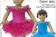 "GennieWren Designs Doll Clothing Patterns / Beautiful patterns for 18"" dolls including American Girl and other 18"" dolls."