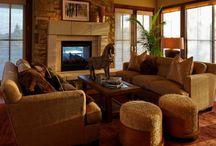 Hearth Rooms / Hearth Rooms can be the heart of your house.  Look at some of our favorite hearth rooms here!