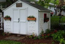 Sheds & Paths / Ideas to change the look of my shed and ways to do paths either thru yard or to shed / by Danna Walter