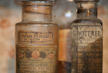 Bottles glass antique