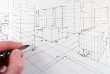sketching  / technical drawing & architectural sketching