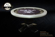 BBO Poker Tables iShowroom / BBO is producing one of a kind poker tables and game tables featuring customer graphics and exotic vinyl arm rests. Get inspired!